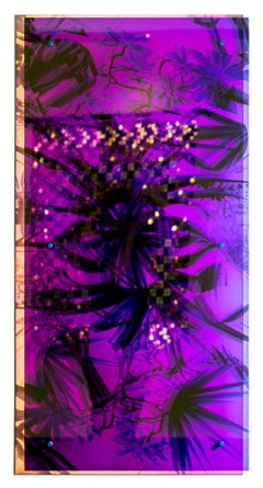 """Tree Aloe"", Holographic, Mirrored, Reflective, Wall-Hanging Colorful Sculpture"
