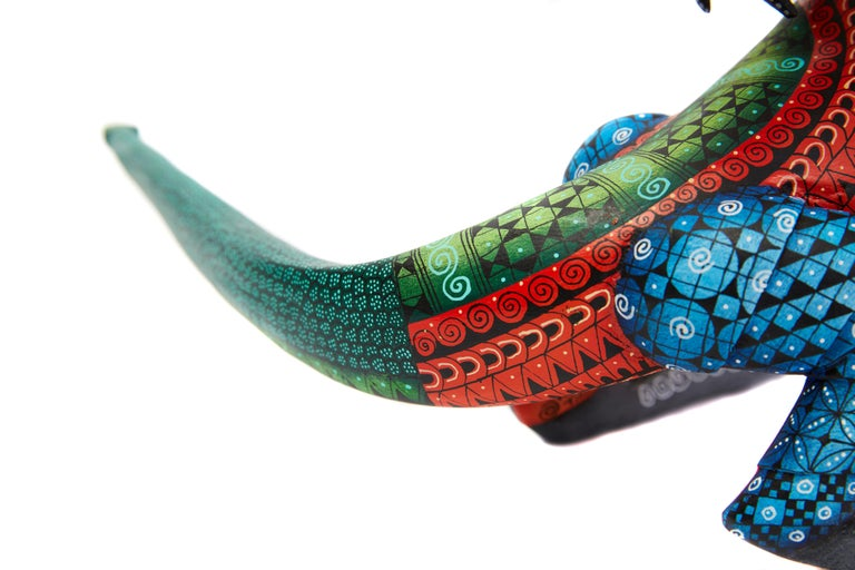 Dragon Fantastico - Fantastic Dragon Alebrije - Mexican Folk Art - Wood Carving  For Sale 8