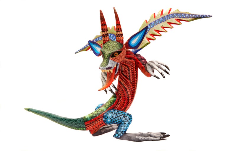 Dragon Fantastico - Fantastic Dragon Alebrije - Mexican Folk Art - Wood Carving  For Sale 1
