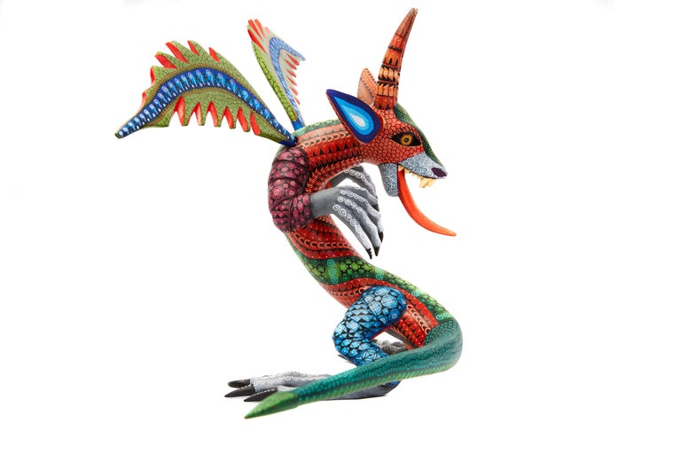 Dragon Fantastico - Fantastic Dragon Alebrije - Mexican Folk Art - Wood Carving  For Sale 2