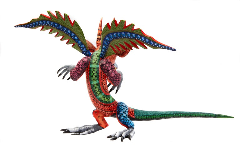 Dragon Fantastico - Fantastic Dragon Alebrije - Mexican Folk Art - Wood Carving  For Sale 3