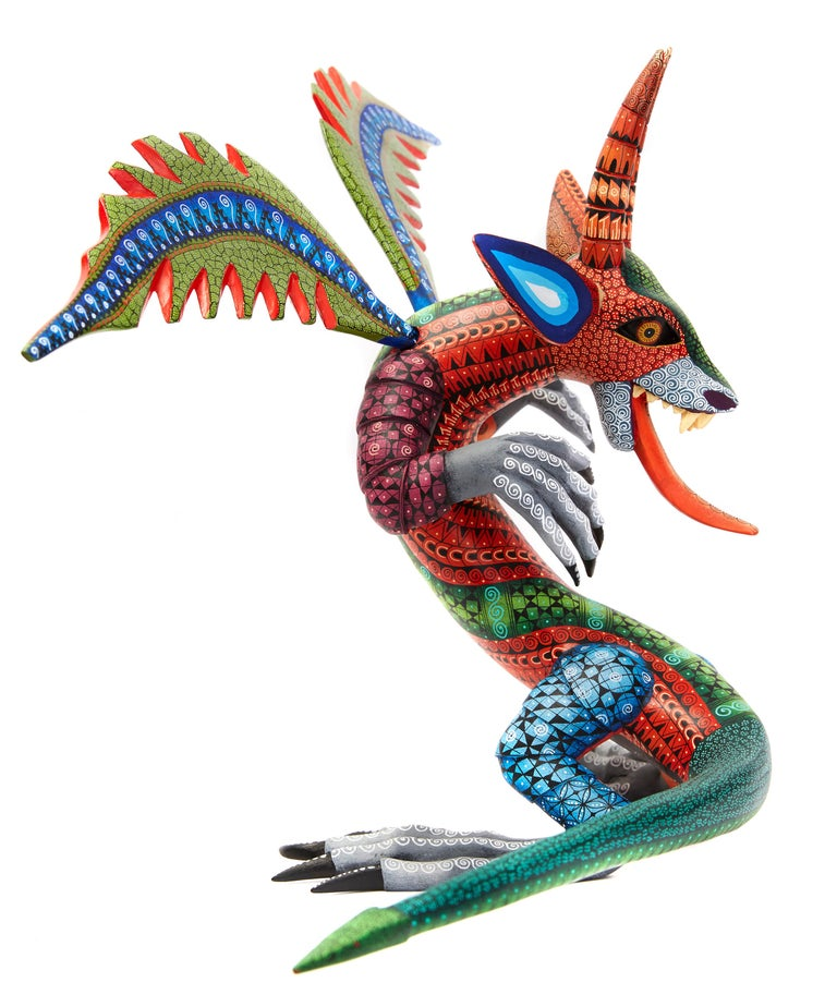 Dragon Fantastico - Fantastic Dragon Alebrije - Mexican Folk Art - Wood Carving  For Sale 4