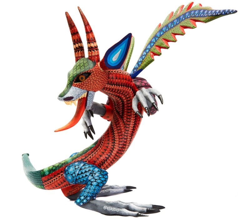 Dragon Fantastico - Fantastic Dragon Alebrije - Mexican Folk Art - Wood Carving  For Sale 5