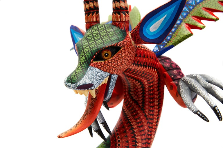 Dragon Fantastico - Fantastic Dragon Alebrije - Mexican Folk Art - Wood Carving  For Sale 6