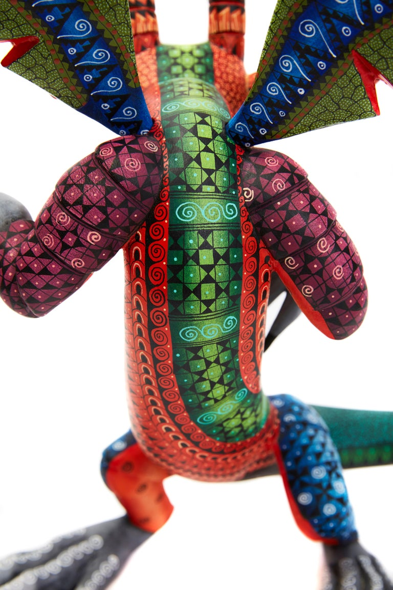 Dragon Fantastico - Fantastic Dragon Alebrije - Mexican Folk Art - Wood Carving  For Sale 5