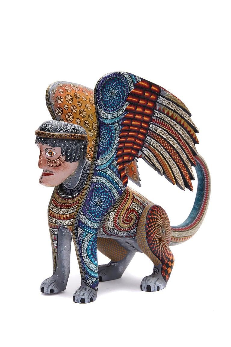 Nahual Zapoteco - Zapotec Nahual - Mexican Folk Art  Cactus Fine Art For Sale 7