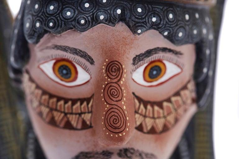 Nahual Zapoteco - Zapotec Nahual - Mexican Folk Art  Cactus Fine Art For Sale 8
