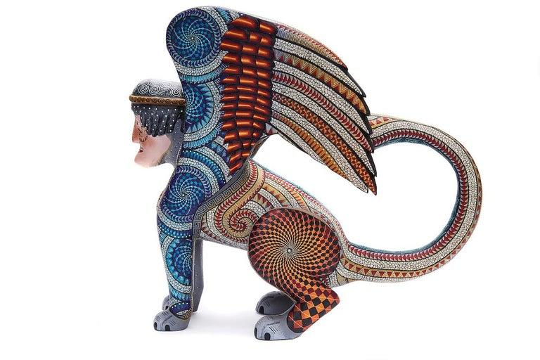 Nahual Zapoteco - Zapotec Nahual - Mexican Folk Art  Cactus Fine Art For Sale 10