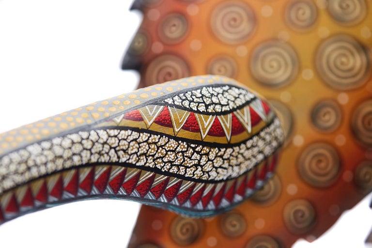 Nahual Zapoteco - Zapotec Nahual - Mexican Folk Art  Cactus Fine Art For Sale 12