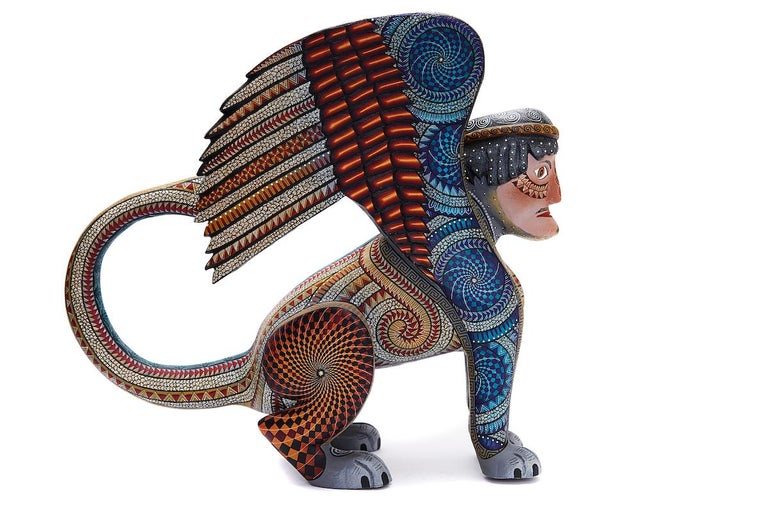 Nahual Zapoteco - Zapotec Nahual - Mexican Folk Art  Cactus Fine Art For Sale 1