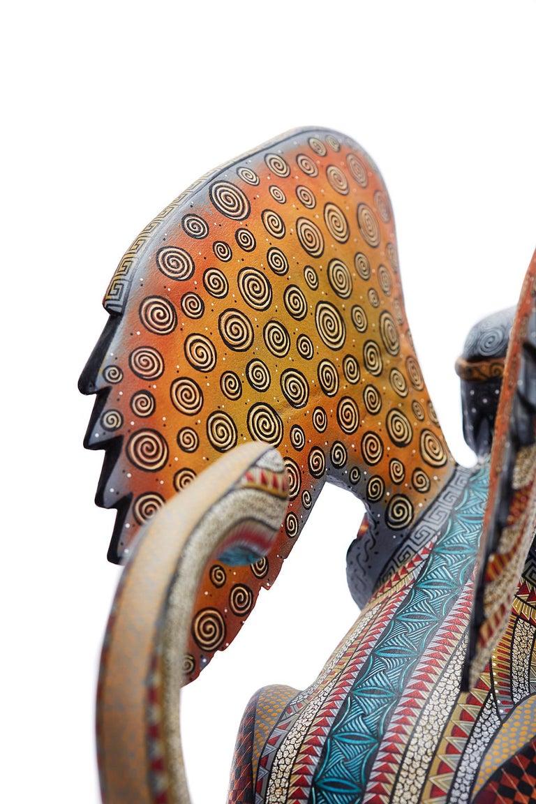 Nahual Zapoteco - Zapotec Nahual - Mexican Folk Art  Cactus Fine Art For Sale 2