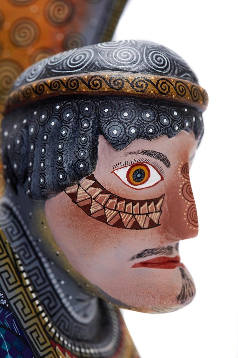 Nahual Zapoteco - Zapotec Nahual - Mexican Folk Art  Cactus Fine Art For Sale 3