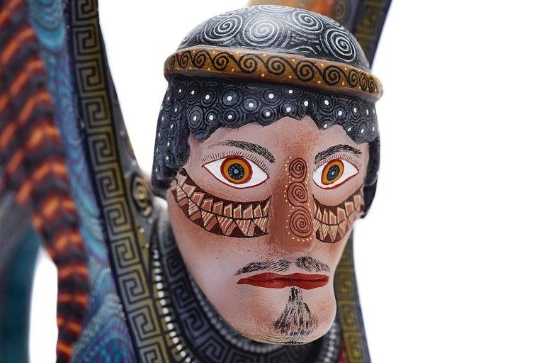Nahual Zapoteco - Zapotec Nahual - Mexican Folk Art  Cactus Fine Art For Sale 4