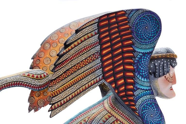 Nahual Zapoteco - Zapotec Nahual - Mexican Folk Art  Cactus Fine Art For Sale 5