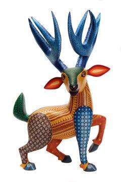 Venado, Deer,  Mexican Alebrije, Mexican Folk Art, Oaxaca Wood Carving