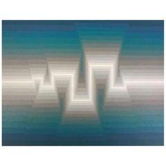 "Roy Ahlgren Limited Edition Signed Modern Silk Screen Print ""Mayan"""