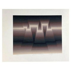 """Roy Ahlgren Limited Edition Signed Silk Screen Print """"Dusk and Dawn"""""""