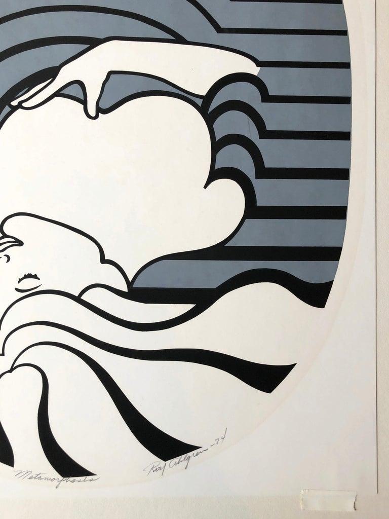 Roy Ahlgren  Metamorphosis  1974  Silkscreen on Paper  20