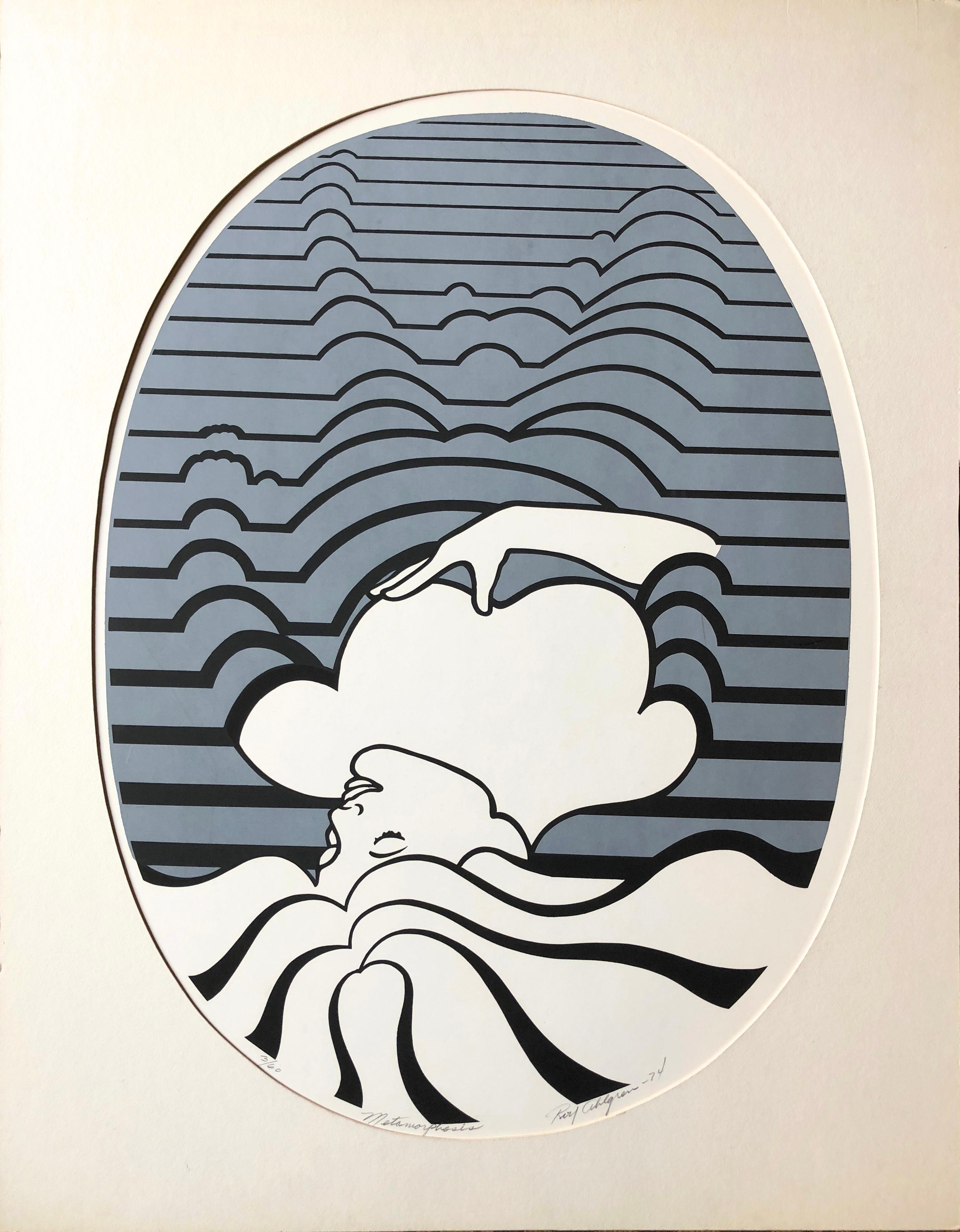 """1974 """"Metamorphosis"""" Roy Ahlgren Silkscreen"""