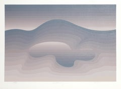 Awakening, Abstract Silkscreen by Roy Ahlgren