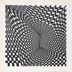 """Concave Triad I"", 1970, Silkscreen by Roy Ahlgren"