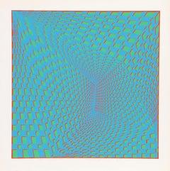 Concave Triad III, OP Art Silkscreen by Roy Ahlgren