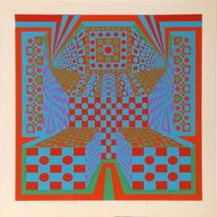 Desert Icon I, Abstract Silkscreen by Roy Ahlgren