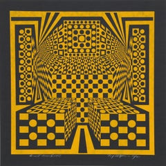 Desert Icon V, OP Art Silkscreen by Roy Ahlgren