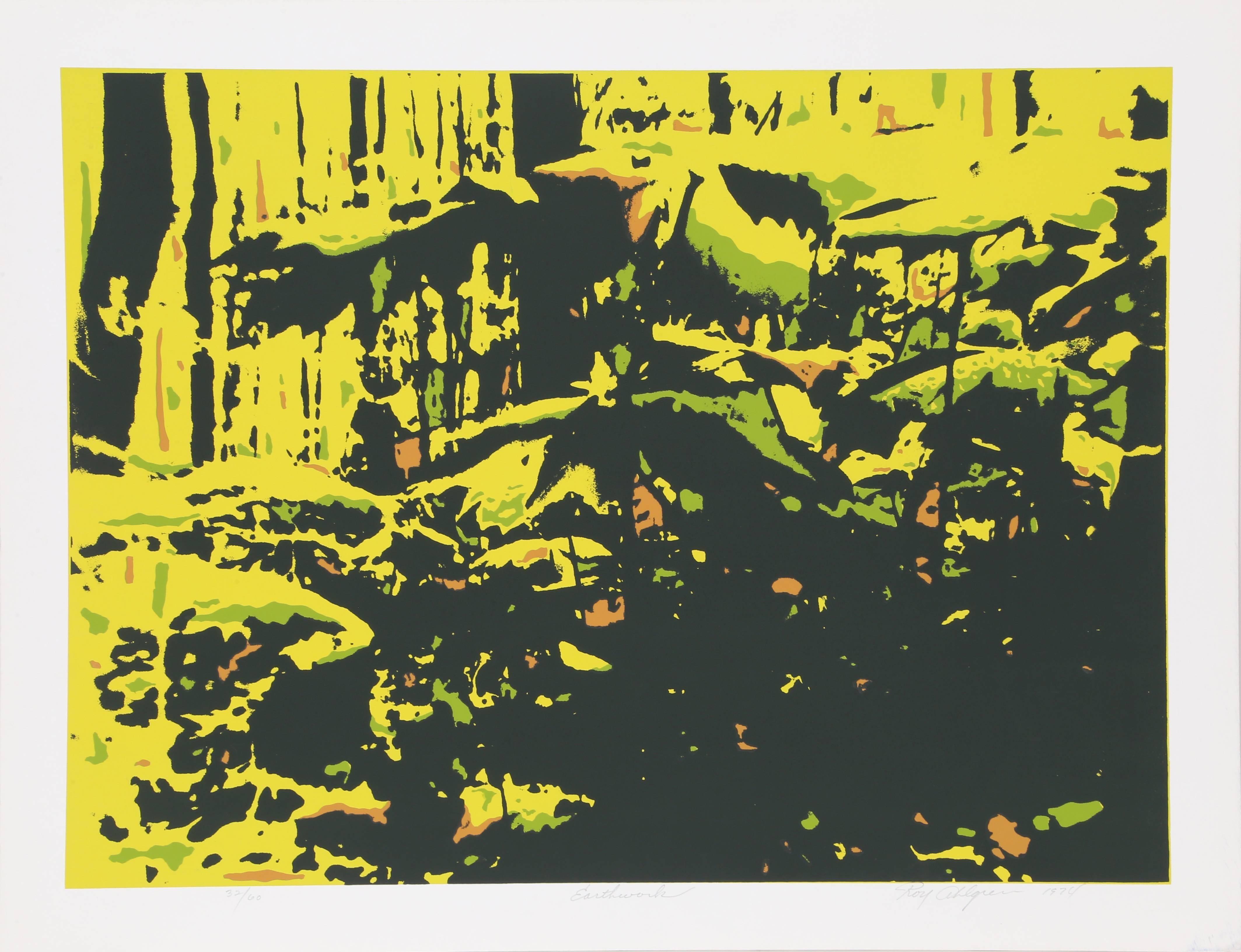 Earthwork, Serigraph by Roy Ahlgren