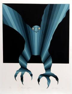 """""""Eternal Vigilance"""", Op Art Serigraph by Roy Ahlgren"""