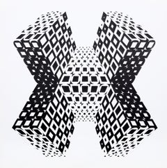 """Exatopia"", 1970, Silkscreen by Roy Ahlgren"