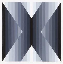 Extrinsic, OP Art Silkscreen by Roy Ahlgren