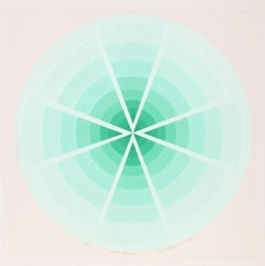 """Green Enigma"", 1975, Serigraph by Roy Ahlgren"