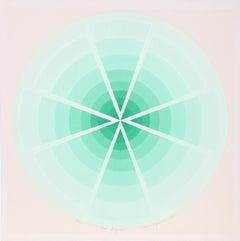 """Green Enigma"", 1975, Serigraph by Roy Ahlgren"