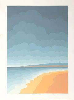 Gull Point, Op Art Silkscreen by Roy Ahlgren