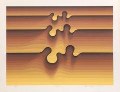 Hydra, OP Art silkscreen by Roy Ahlgren