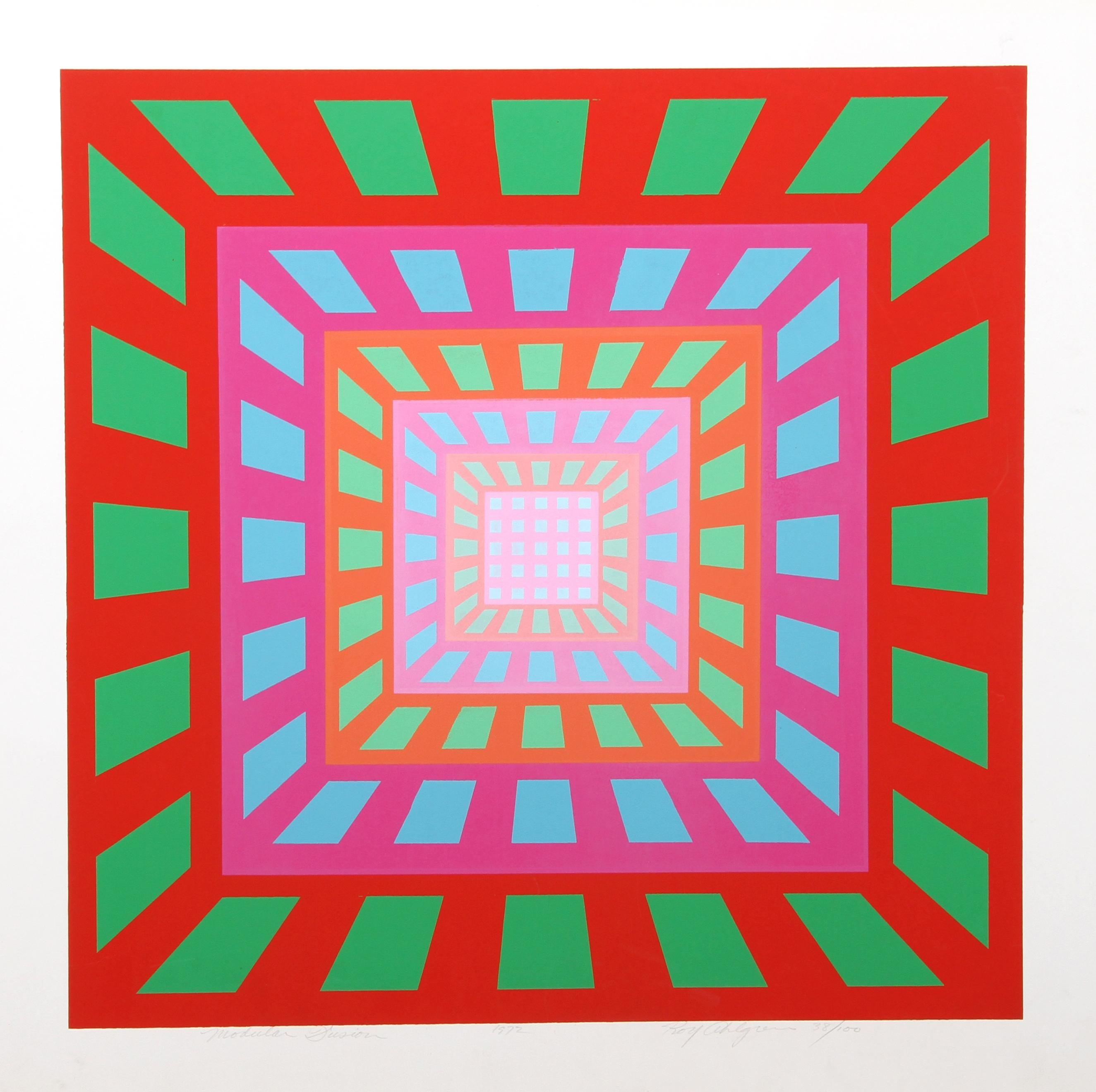 """Modular Fusion"", 1972, Silkscreen by Roy Ahlgren"