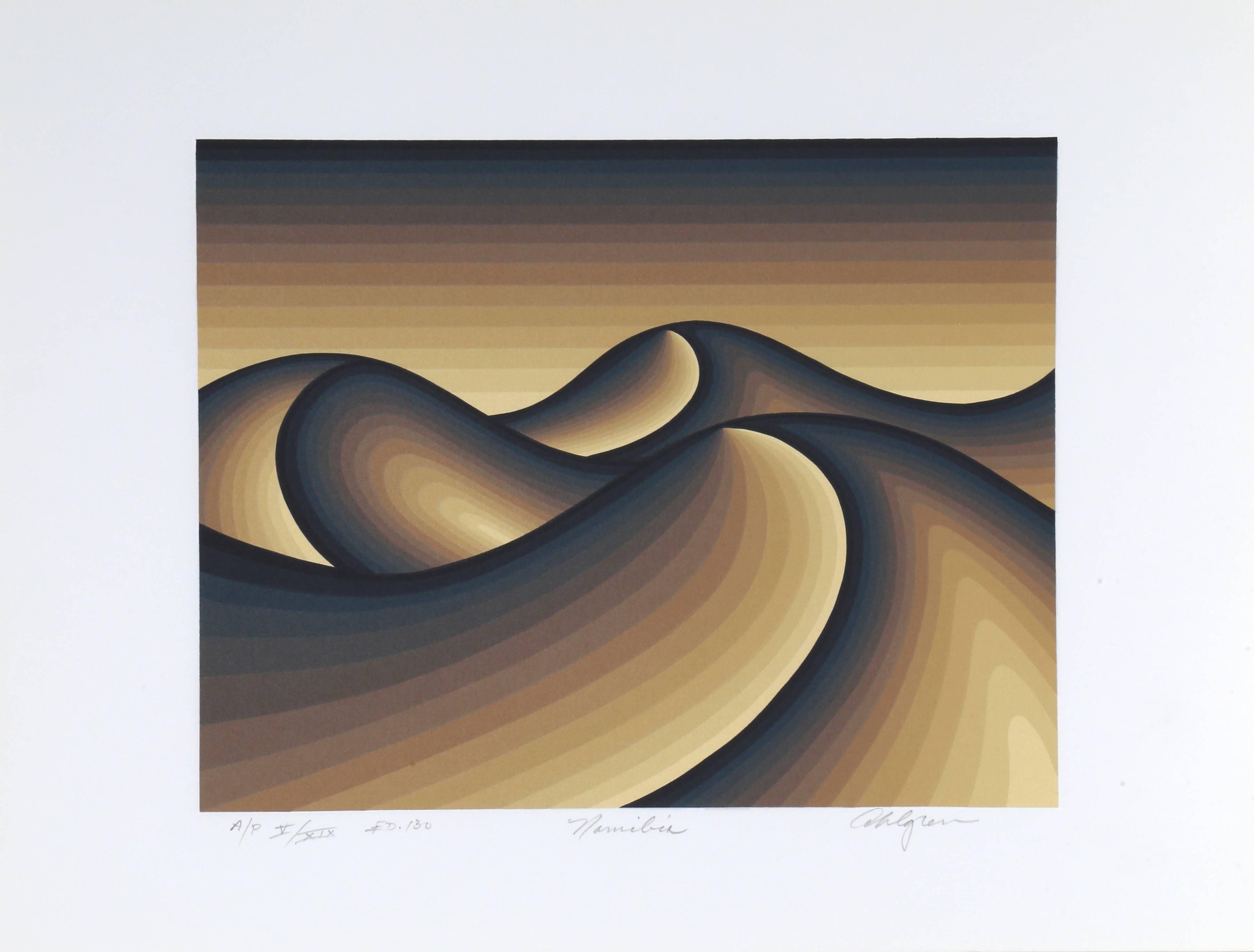 """Namibia"", Abstract Silkscreen by Roy Ahlgren"