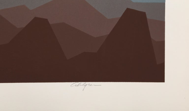 Polar Sea - Gray Landscape Print by Roy Ahlgren