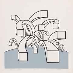 Probe, OP Art Silkscreen by Roy Ahlgren