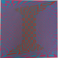 "Roy Ahlgren ""Concantenation"" Signed Limited Edition Serigraph Op-Art"