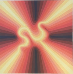 "Roy Ahlgren ""Pulsar"" Limited Edition Signed Print Op Art"