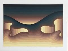 Roy Ahlgren 'Terrestrial Facade I' Signed Limited Edition Serigraph Print