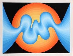 Solar D'Light, OP Art Serigraph by Roy Ahlgren