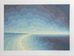 Solitude, OP Art Seascape by Roy Ahlgren
