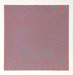 Spatial Concept I, OP Art Silkscreen by Roy Ahlgren 1969