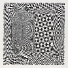 """""""Spatial Concept II"""", OP Art Serigraph by Roy Ahlgren 1968"""