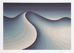 Tranquility, Abstract Landscape Serigraph by Roy Ahlgren