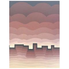 "Roy Ahlgren Signed Limited Edition Modern Silk Screen Print ""Pueblo"""