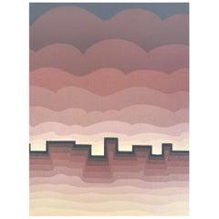"Roy Ahlgren Signed Limited Edition Silk Screen Print ""Pueblo"""